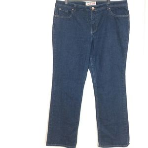 Faded Glory Womens Size 16 Stretch Straight Jeans